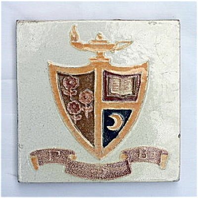 Rare Broadmoor Art Tile for Gamma Phi Beta (Image1)