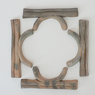 Set of 4 Moravian Framing Tiles  (Image1)