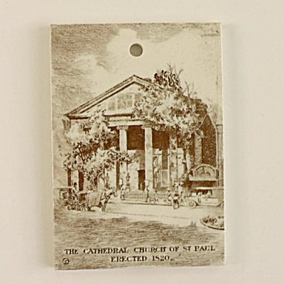 1922 Wedgwood Calendar Tile Cathedral Church St. Paul (Image1)