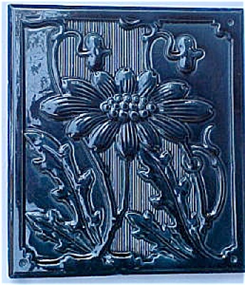 Antique German Stove Tile with Majolica Glaze (Image1)