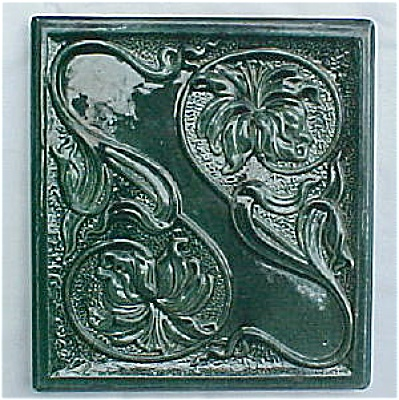 Antique German Art Nouveau Style Stove Tile (Image1)