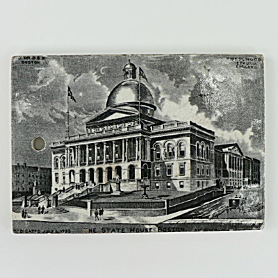1895 Wedgwood Calendar Tile Boston State House (Image1)