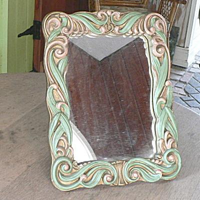 Stunning Antique Gesso Vanity Mirror (Image1)