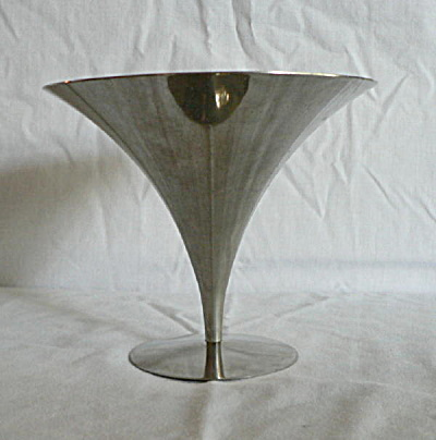 Moderne Footed Chrome Compote (Image1)