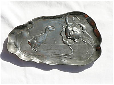 Kayserzinn Pewter Dish with a Duck Design (Image1)