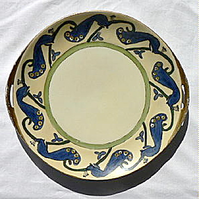 Porcelain Plate with Peacocks Hand Painted (Image1)