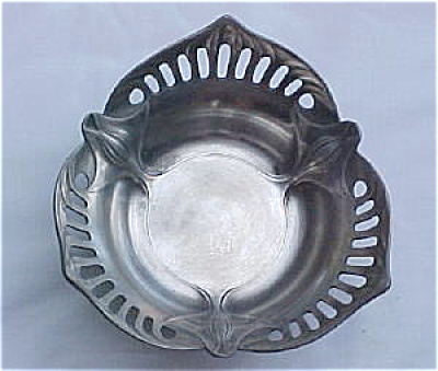 Orivit Germany Jugendstil Pewter Reticulated Dish (Image1)