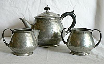 Tudric Hammered Pewter Tea Set (Image1)