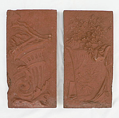 Pair Antique Figural Architectural Terra Cotta Panels (Image1)