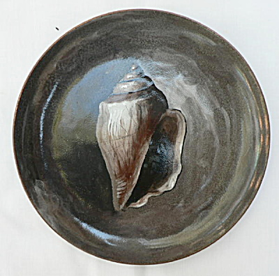 Hand Painted Nekrassoff Dish - Conch Shell
