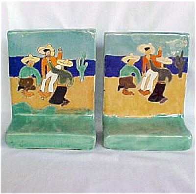 San Jose Pottery Bookends (Image1)