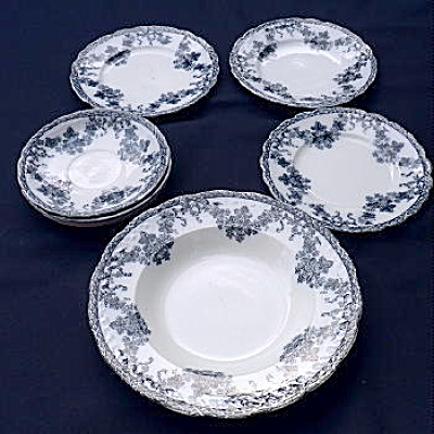 Vienna Pattern Dishes Circa 1880