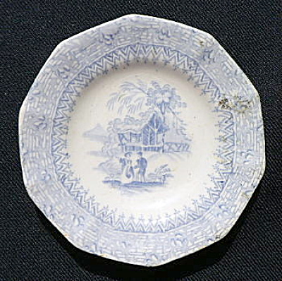 Romantic Staffordshire Cup Plate (Image1)