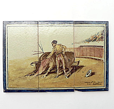 Spanish Tile Panel #2 Signed Vicente Flores (Image1)