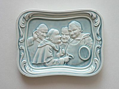 American Encaustic Pottery Monk Tray