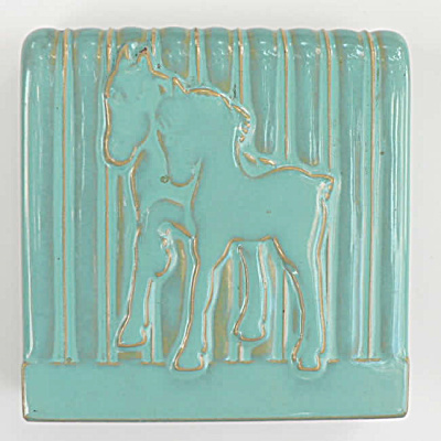Art Pottery Bookend with Horses (Image1)