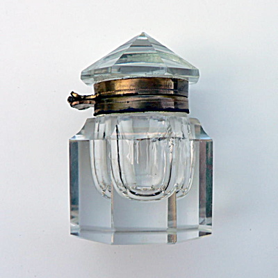 Antique Octagonal Glass Inkwell (Image1)