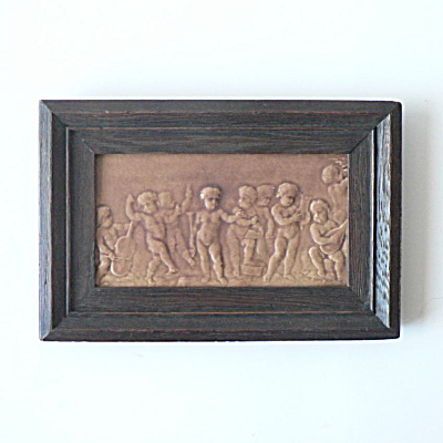 Rare Los Angeles Pressed Brick Figural Tile Panel  (Image1)