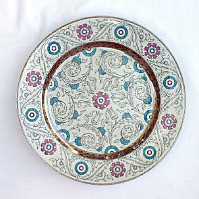 Polychrome Lustre Antique Plate