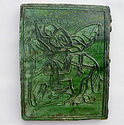 St. George Slaying the Dragon Stove Tile (Image1)