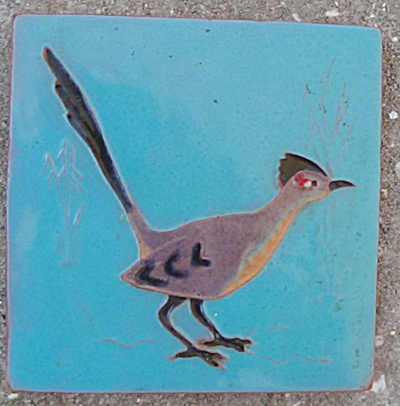 Early Desert House Crafts - Dhc - Roadrunner Tile