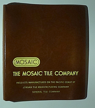 1951 Mosaic Tile Company Catalog In Binder