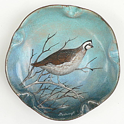 Nekrassoff Hand Painted Dish With Partridge
