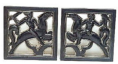 Art Deco Reticulated Architectural Figural Tiles (Image1)