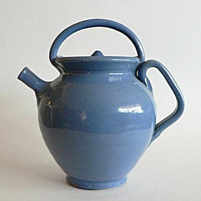 Vintage Southern Folk Pottery Teapot (Image1)