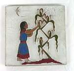 Gila Pottery Native American Corn Girl Tile