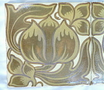 Click to view larger image of Art Nouveau Luster Tile Set (Image1)
