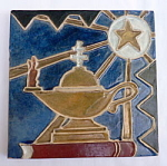 Click to view larger image of Oil Lamp and Star Tile (Image1)