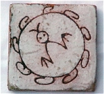 Arius Tile with a Petroglyph Drawing