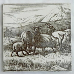 Highly Unusual Backmark William Wise Animal Tile