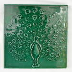 Antique Tile with Peacock