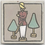 Click here to enlarge image and see more about item 1303A: American Art Tile with Toy Soldier