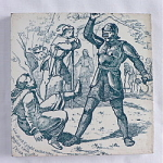 Click to view larger image of Wedgwood Tile - Black Knight & Friar Tuck (Image1)