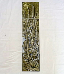 Click here to enlarge image and see more about item 1477: Four Tile Cattail Panel by American Encaustic