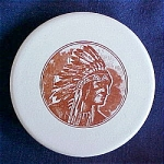Click to view larger image of Native American Chief Design by Mosaic Tile Company (Image1)