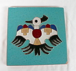Click to view larger image of Gila Pottery Zuni Thunderbird Tile (Image1)