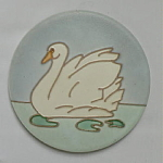 Round Swan Tile by Wheeling