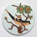 Round Baltimore Oriole Tile by Wheeling