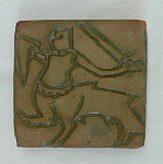Click here to enlarge image and see more about item 3015: Moravian Centaur of Nuremberg Tile