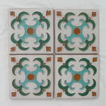 Click here to enlarge image and see more about item 1818: Set of 4 Gila / Desert House Mimbres Tiles
