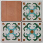 Click to view larger image of Set of 4 Gila / Desert House Mimbres Tiles (Image3)