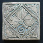 Click here to enlarge image and see more about item 3105: Batchelder Tile Leaves and Animals
