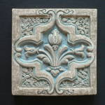 Click here to enlarge image and see more about item 1901-4578: Batchelder Tile Single Tulip