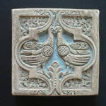 Click here to enlarge image and see more about item 1922-4580: Batchelder Tile with Two Birds