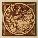 Alfred – English History Antique Tile