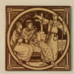 Click to view larger image of St. Augustine – English History Antique Tile (Image1)
